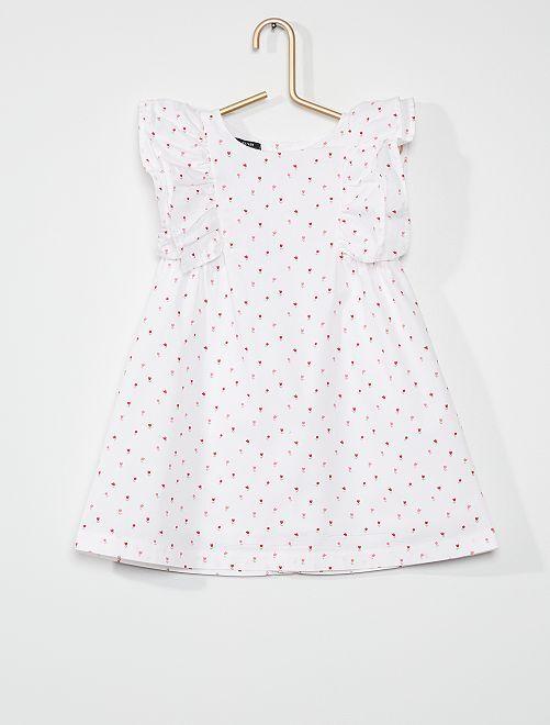 Vestido de popelina                                                     ROSA