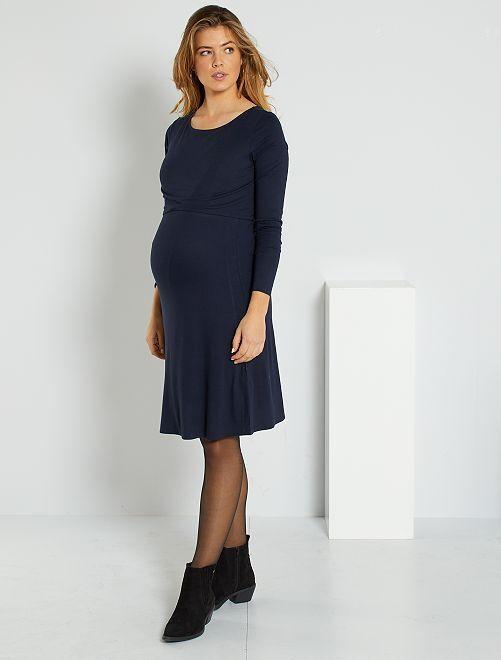 Vestido de premamá y lactancia                             azul