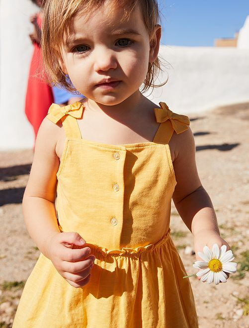 Vestido de punto                             amarillo dorado