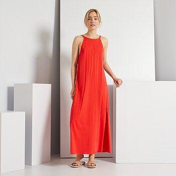 Vestido de punto con espalda abierta - Kiabi