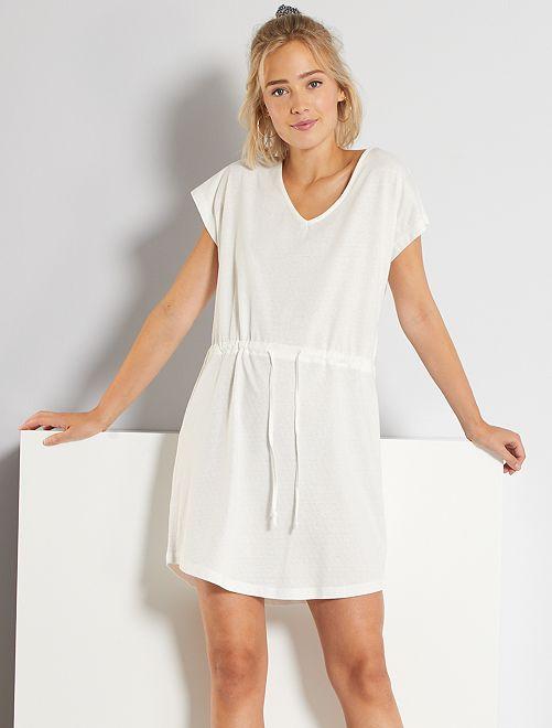 Vestido de punto de fantasía 'JDY'                                         blanco