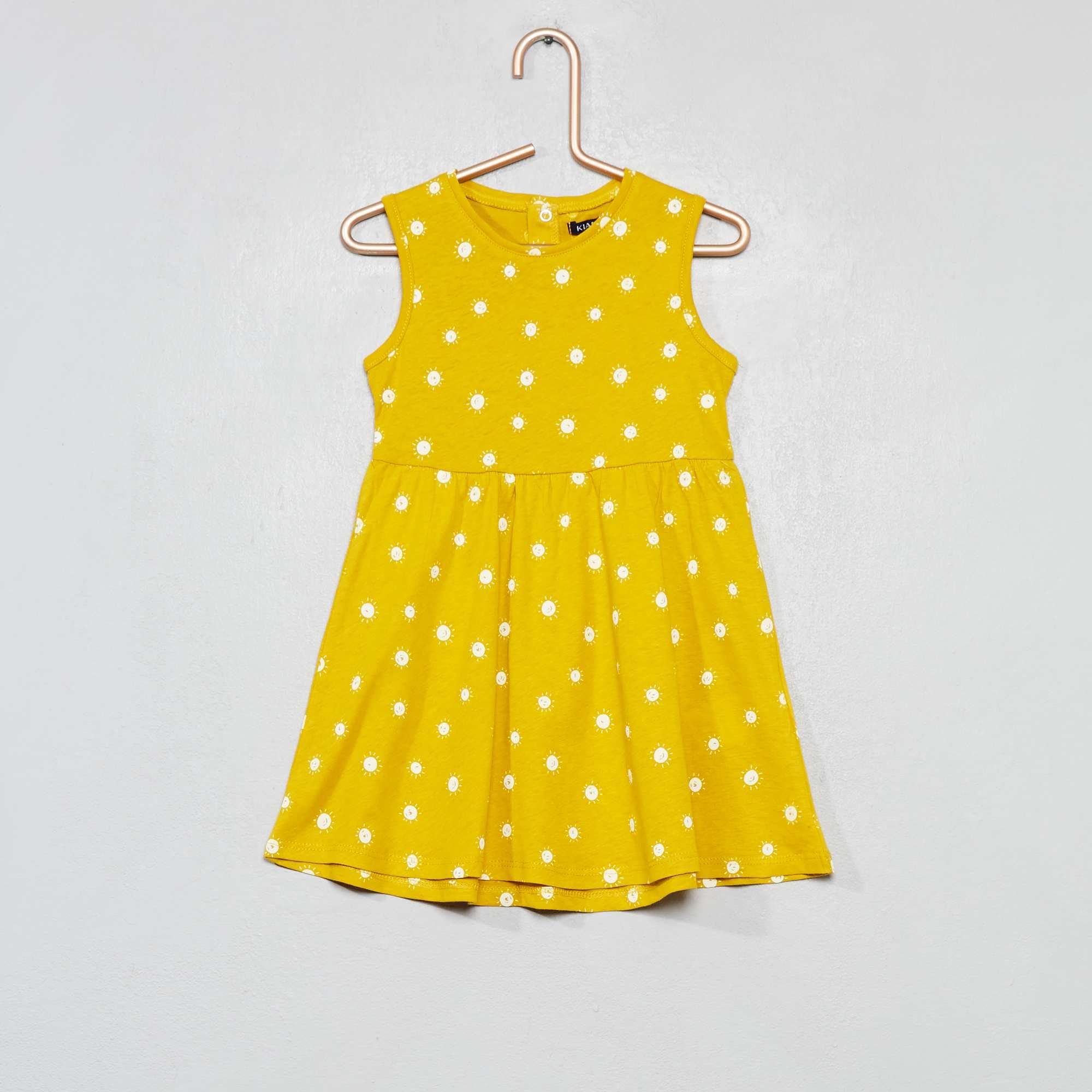 832c46f1a Vestido de punto estampado 'sol' Bebé niña - AMARILLO - Kiabi - 4,00€
