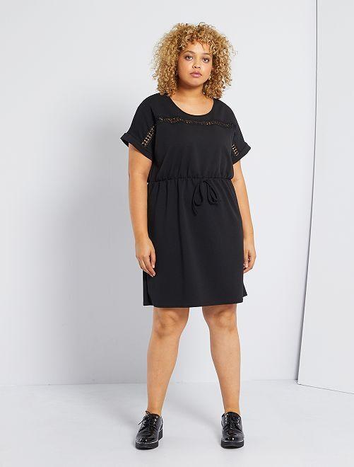 Vestido de punto milano                             negro