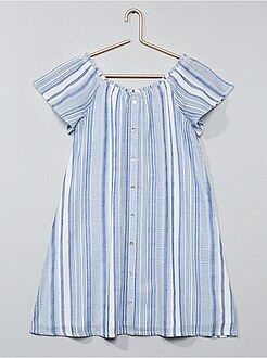 Vestidos, faldas - Vestido de rayas evasé - Kiabi