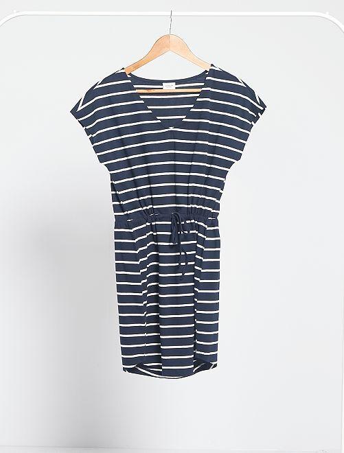 Vestido de rayas 'JDY'                                         azul marino