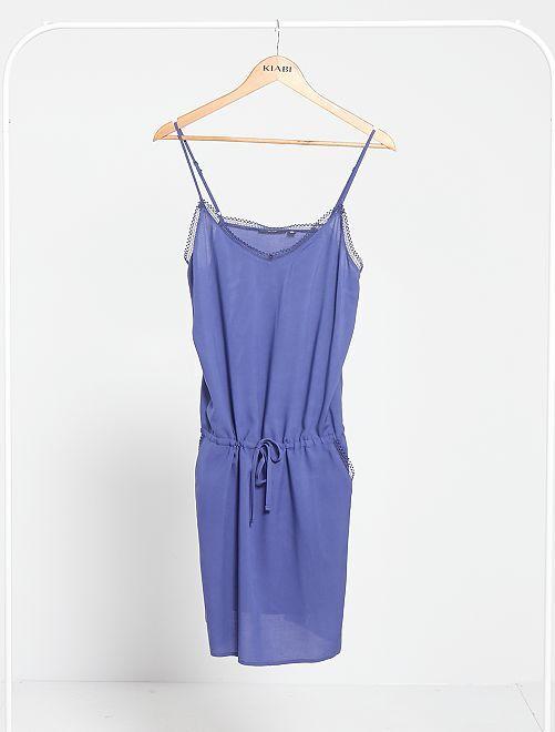 Vestido de tirantes finos                                                                 azul cobalto