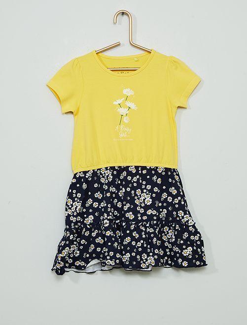Vestido efecto 2 en 1                                         amarillo