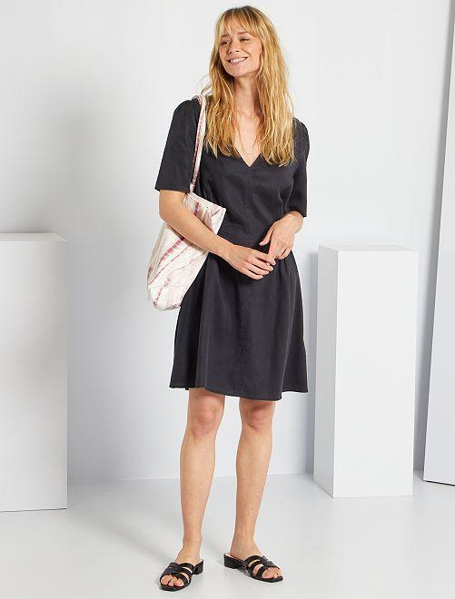 Vestido entallado eco-concepción                             negro
