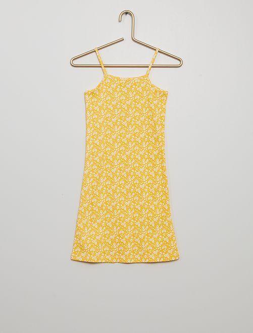 Vestido estampado                                                                 amarillo dorado