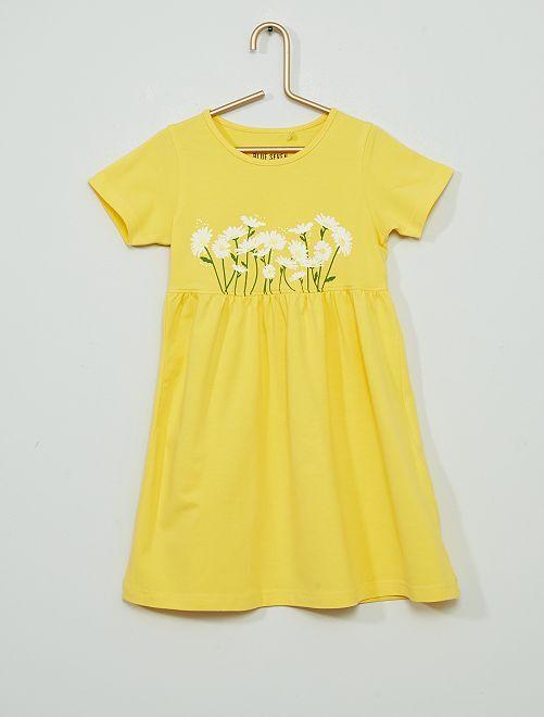 Vestido estampado 'margaritas'                                         amarillo