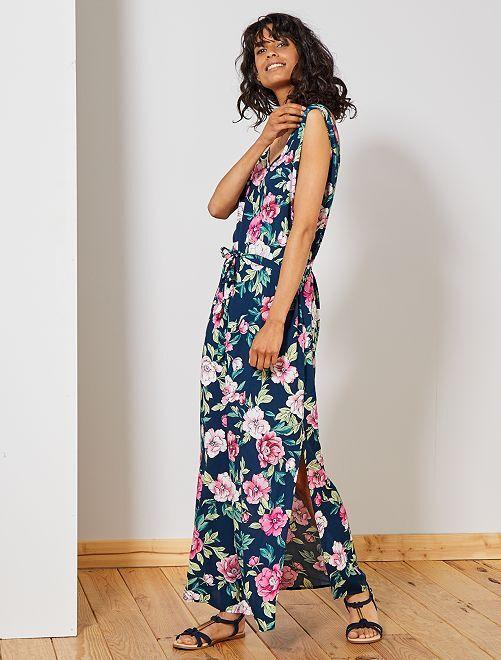 Vestido largo con abertura 'JDY'                                                     AZUL Mujer talla 34 a 48