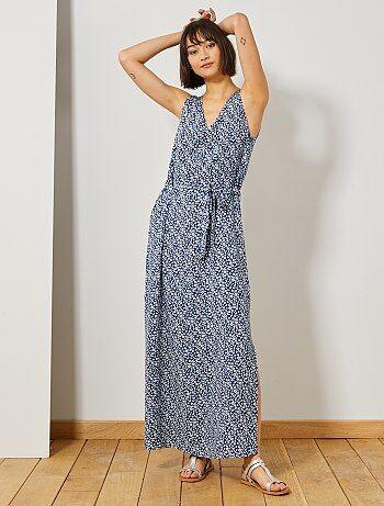1201d4ec40 Mujer talla 34 a 48 - Vestido largo con abertura  JDY  - Kiabi
