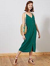 Vestido Gasa Mujer Kiabi La Moda A Pequeños Precios