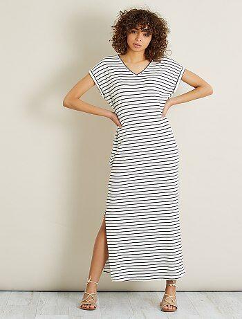 Mujer - Vestido largo de punto - Kiabi