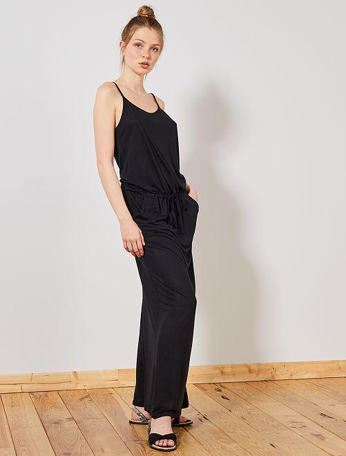 Vestido largo elástico                     negro Mujer talla 34 a 48