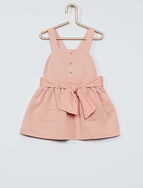 Vestido ligero + cinturón                             ROSA