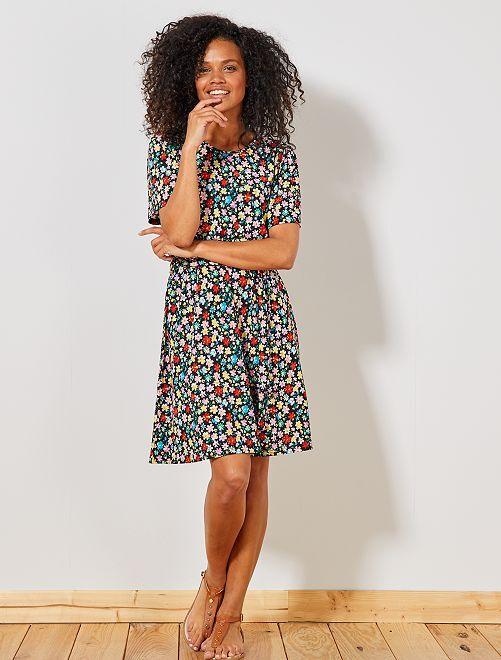 Vestido ligero de flores 'JDY'                                         NEGRO Mujer talla 34 a 48