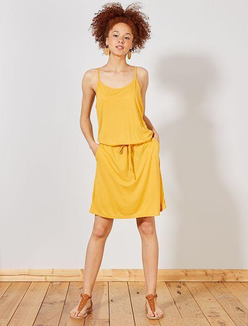 Vestido ligero liso                                                                                         AMARILLO Mujer talla 34 a 48