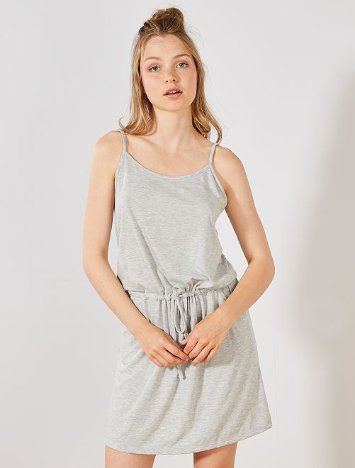Vestido ligero liso                                                                                         GRIS Mujer talla 34 a 48