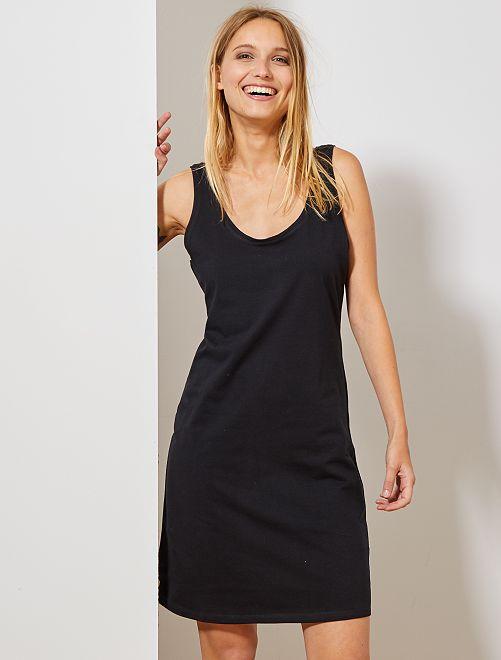 Vestido liso largo sin mangas                                                                 negro Mujer talla 34 a 48