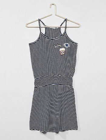8b17487e4 Niña 10-18 años - Vestido marinero con parches bordados - Kiabi