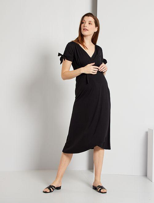 Vestido midi premamá                             negro