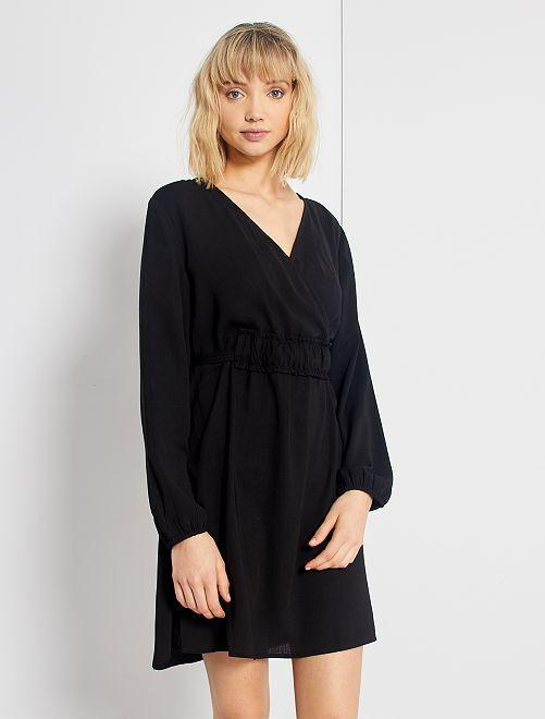 Vestido negro cruzado 'JDY'                             negro