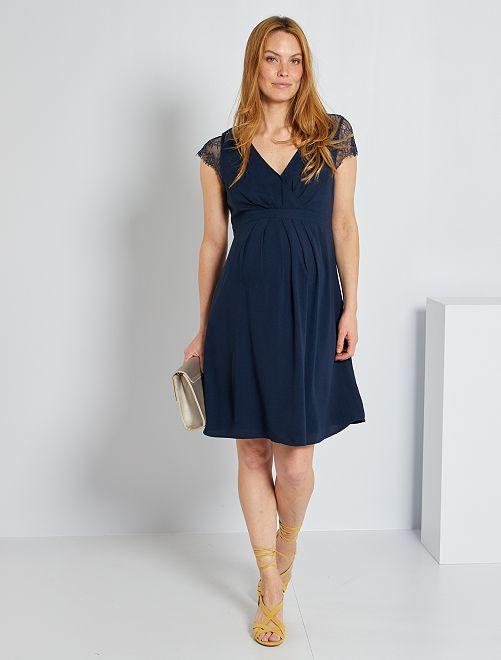 Vestido premamá                                         azul