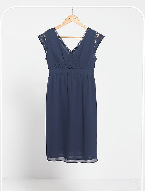 Vestido premamá babydoll                             azul