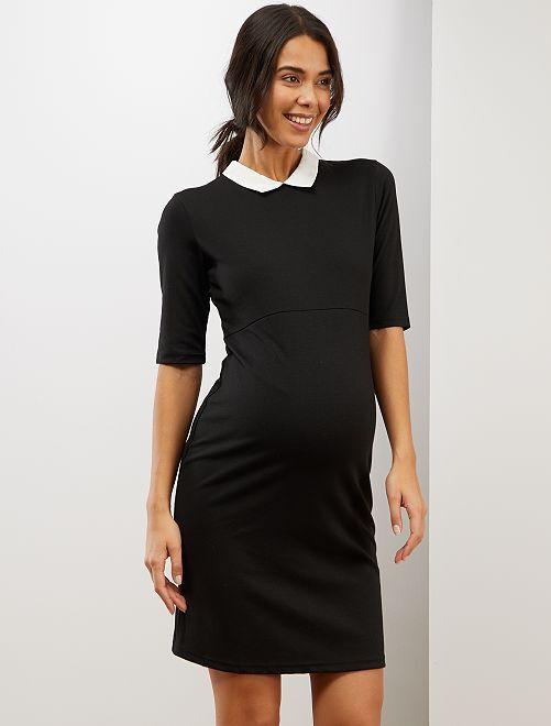 Vestido premamá babydoll                             negro