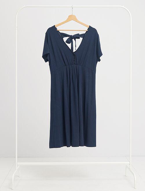 Vestido premamá corto                                                                 azul