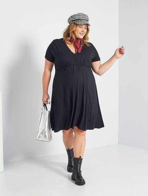 Vestido premamá corto                                                                             negro
