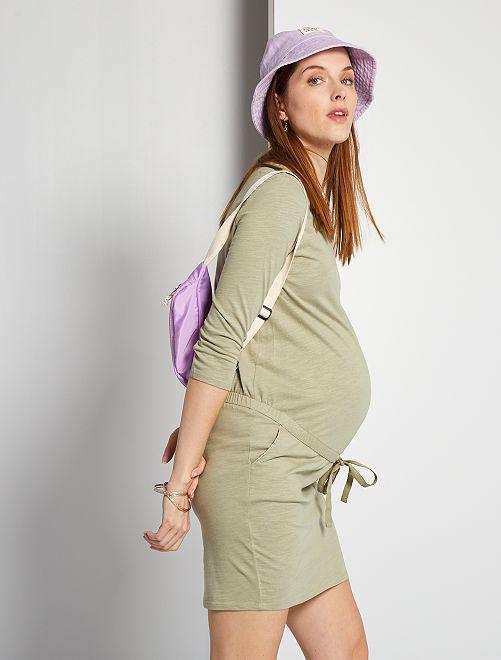 Vestido premamá eco-concepción                                         caqui claro