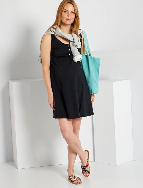 Vestido premamá eco-concepción                                         negro