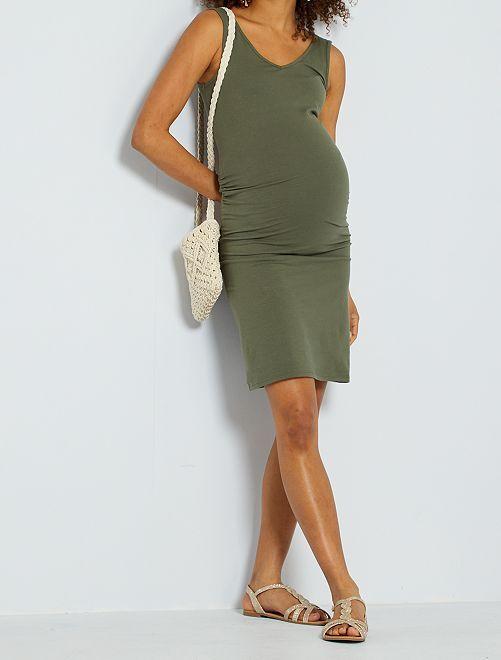 Vestido premamá eco-concepción                                                                             verde oliva