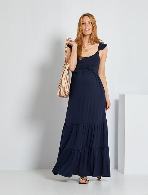 Vestido premamá largo                                                                 azul