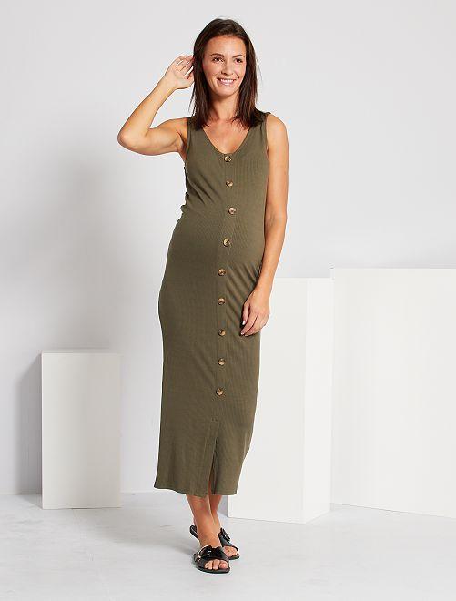 Vestido premamá largo                                         KAKI