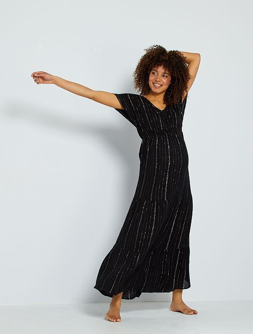 Vestido premamá largo                                         negro