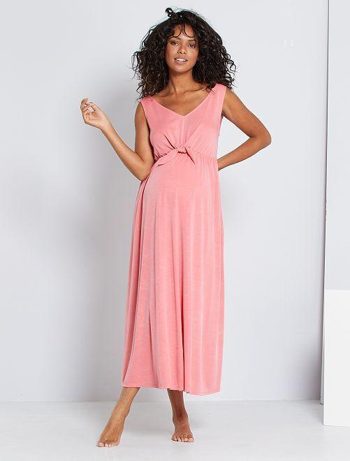 Vestido premamá largo                                         rosa