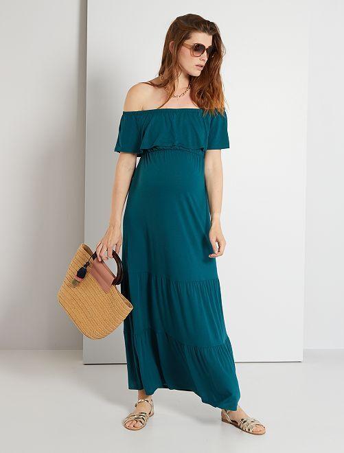 Vestido premamá largo                                         VERDE