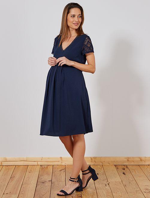 Vestido premamá midi                                                     azul Mujer talla 34 a 48