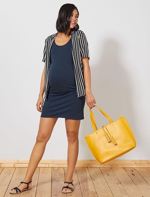 Vestido premamá sin mangas                                                     azul