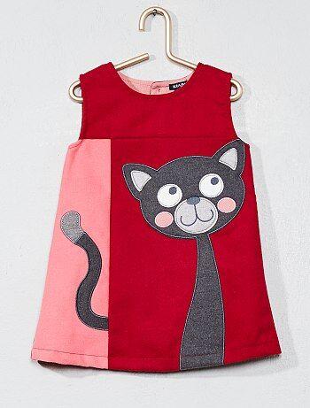 Vestido recto gato - Kiabi