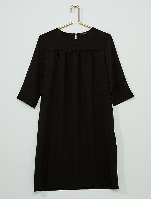 Vestido recto vaporoso                             negro