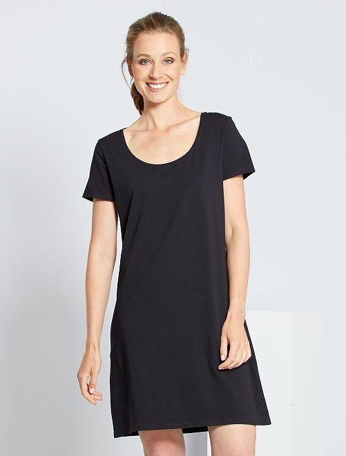 Vestido tipo camiseta 'eco-concepción'                                                         negro