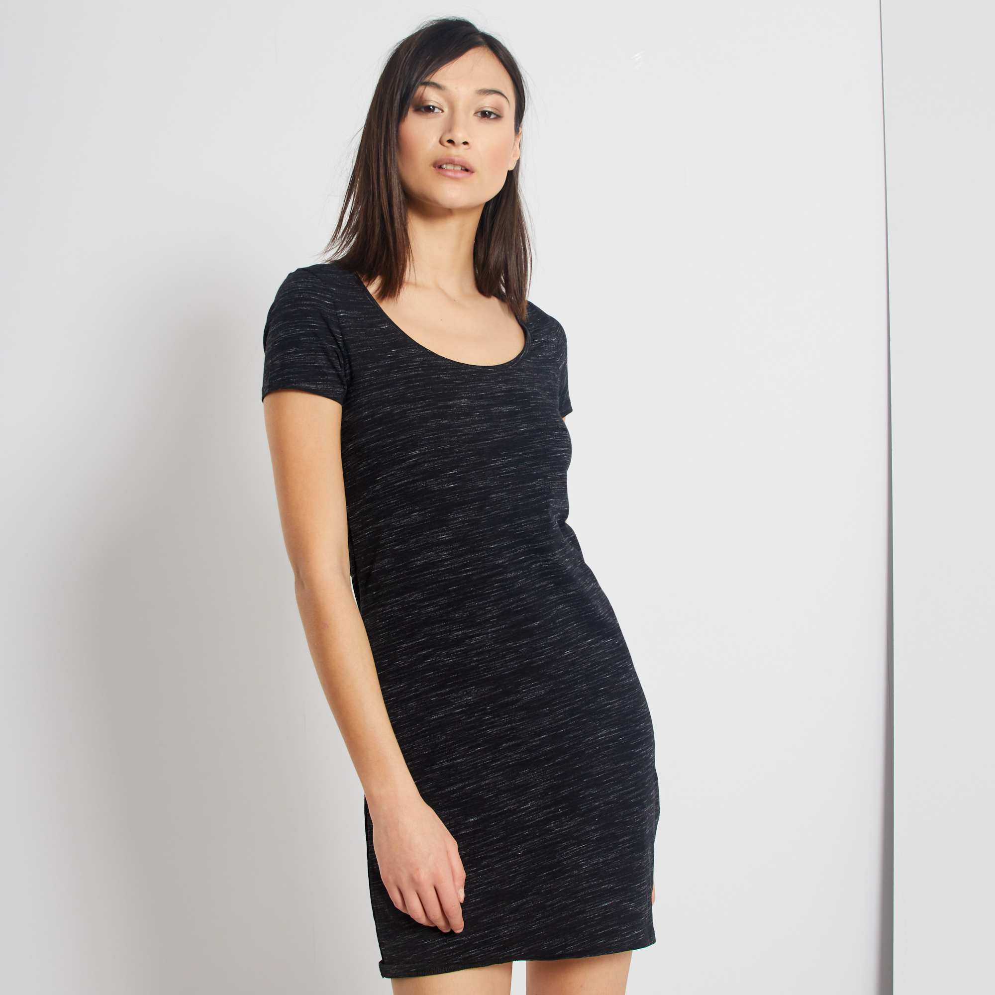 Vestido tipo camiseta Mujer - GRIS - Kiabi - 8,00€