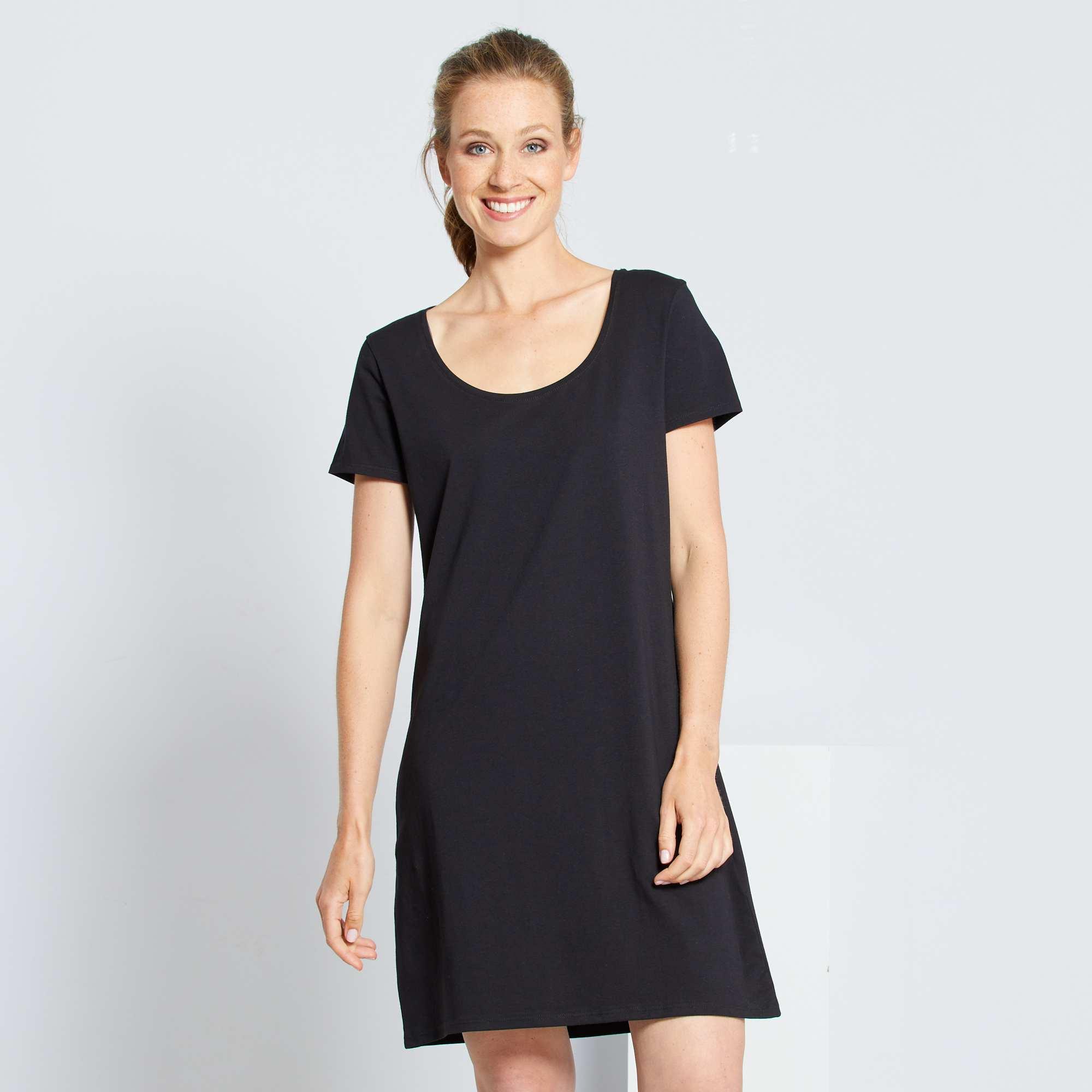 Vestido tipo camiseta Mujer talla 34 to 48 - negro - Kiabi - 8,00€