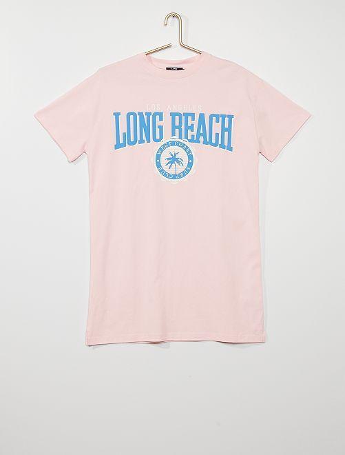 Vestido tipo camiseta                             ROSA