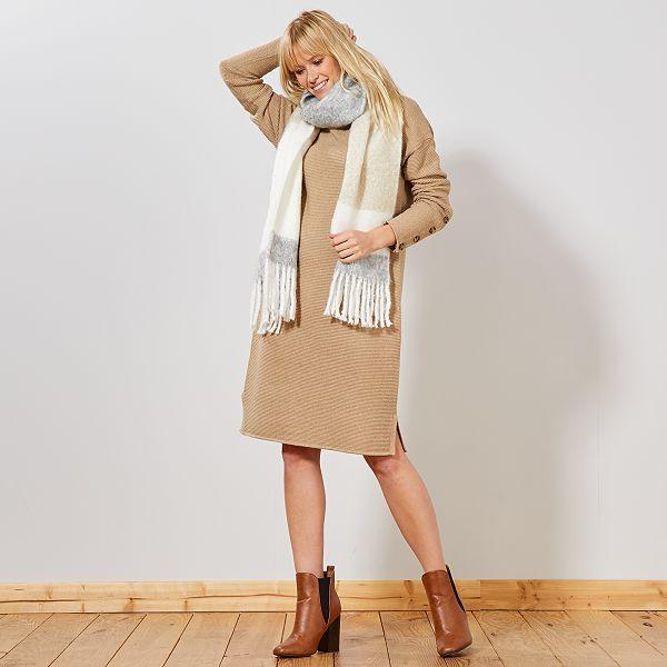 Vestido Tipo Jersey De Punto Ottoman