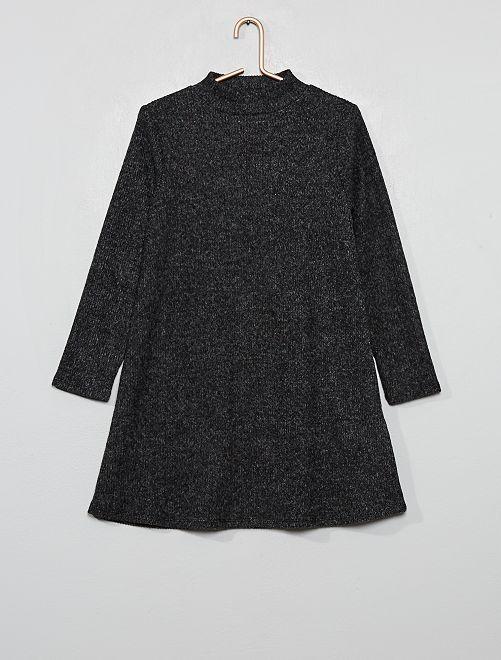 Vestido tipo jersey de punto suave                                         GRIS